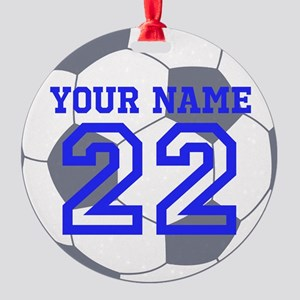 Personalize It, Soccer Christmas Ornament