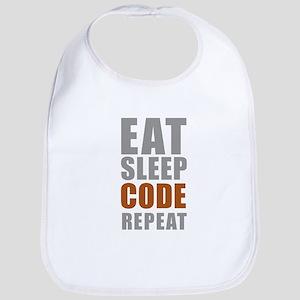 Eat sleep code repeat Baby Bib