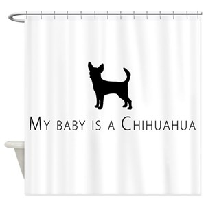 Teacup Chihuahua Shower Curtains