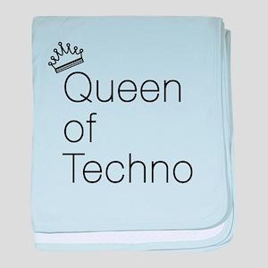 Queen of Techno baby blanket