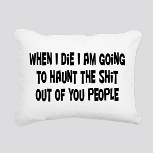 Going to Haunt You Rectangular Canvas Pillow