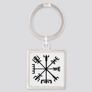 Viking Compass : Vegvisir Square Keychain
