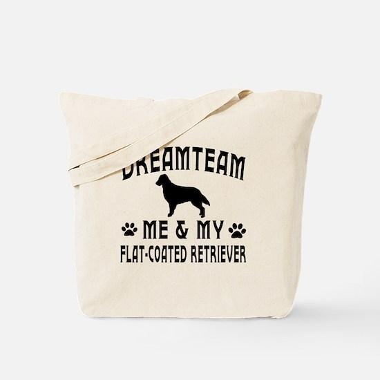 Flat-Coated Retriever Dog Designs Tote Bag