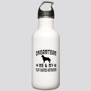 Flat-Coated Retriever Dog Designs Stainless Water