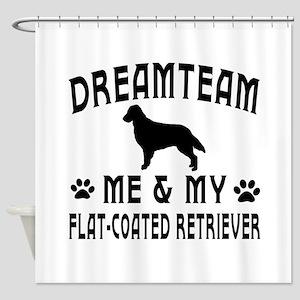 Flat-Coated Retriever Dog Designs Shower Curtain