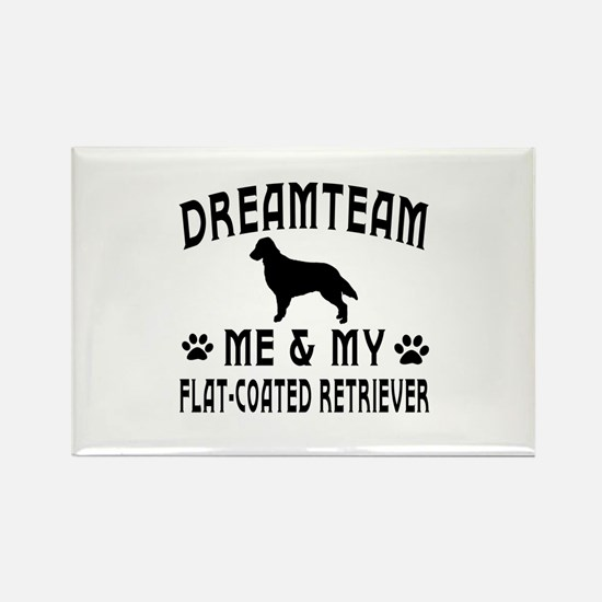 Flat-Coated Retriever Dog Designs Rectangle Magnet