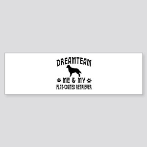 Flat-Coated Retriever Dog Designs Sticker (Bumper)