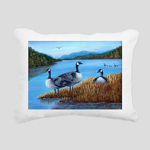 Canada Geese at Lake Lure Rectangular Canvas Pillo