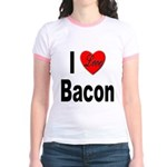 I Love Bacon (Front) Jr. Ringer T-Shirt