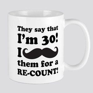 Funny Mustache 30th Birthday Mug