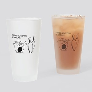 No Crying in Bowling Drinking Glass