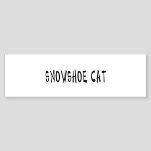 Snowshoe cat Bumper Sticker