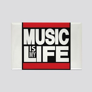 music is my life red Rectangle Magnet