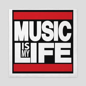 music is my life red Queen Duvet