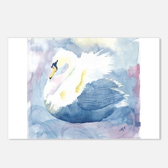 Pastel Swan Postcards (Package of 8)