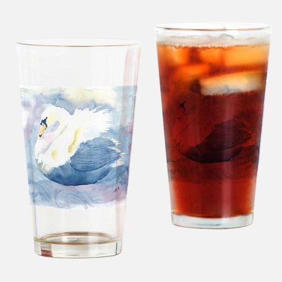 Pastel Swan Drinking Glass