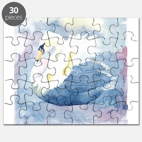 Pastel Swan Puzzle