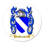 Bissett Round Car Magnet