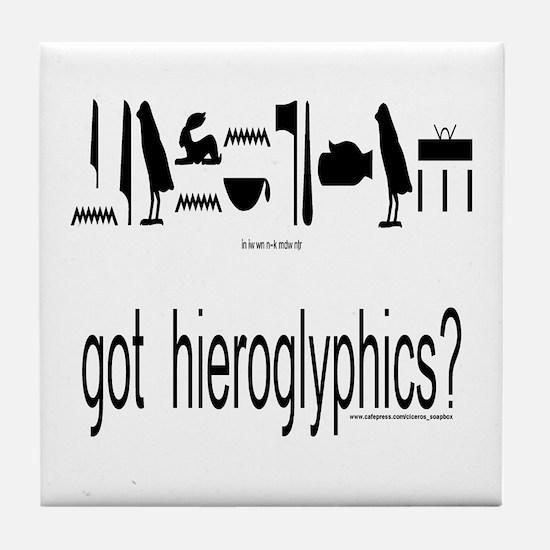 got hieroglyphics? Tile Coaster