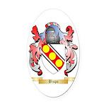 Bispo Oval Car Magnet