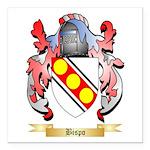 Bispo Square Car Magnet 3