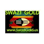 Swazi Gold Rectangle Magnet