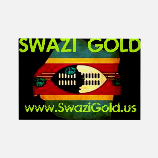 Swazi Gold Rectangle Magnet
