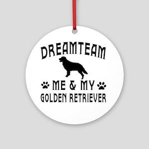 Golden Retriever Dog Designs Ornament (Round)