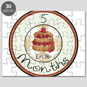 5 Months Vintage Alice Milestone Puzzle