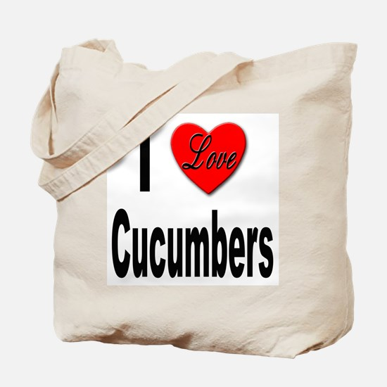 I Love Cucumbers Tote Bag