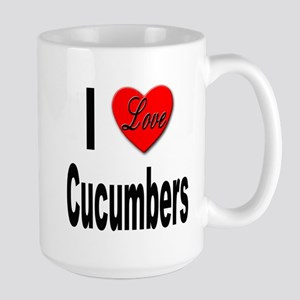 I Love Cucumbers Large Mug