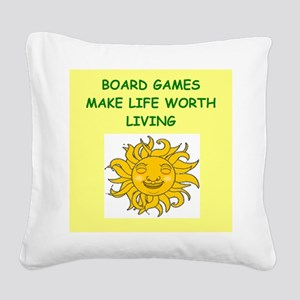 games Square Canvas Pillow