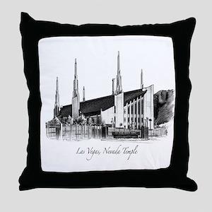 Las Vegas, Nevada Temple Throw Pillow