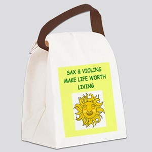 sax and violins Canvas Lunch Bag