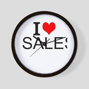 I Love Sales Wall Clock