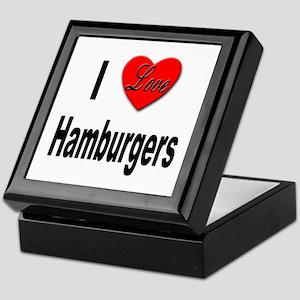 I Love Hamburgers Keepsake Box