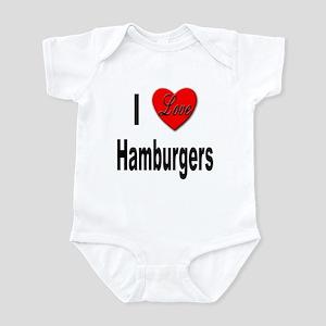 I Love Hamburgers Infant Bodysuit