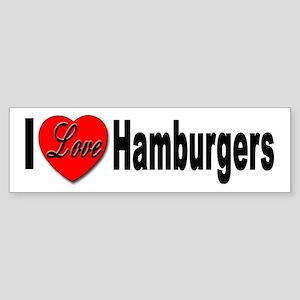 I Love Hamburgers Bumper Sticker