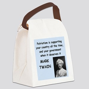 Mark Twain Quote Canvas Lunch Bag