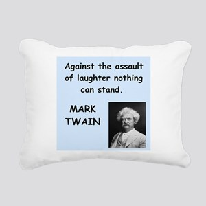 Mark Twain Quote Rectangular Canvas Pillow