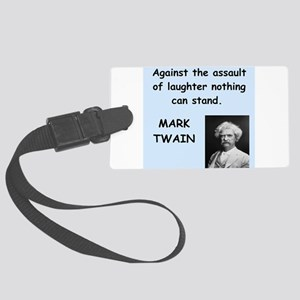 Mark Twain Quote Large Luggage Tag
