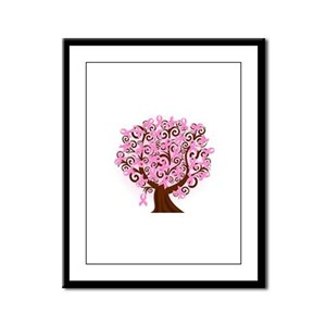 The Tree of Life...Breast Cancer Framed Panel Prin