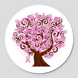 The Tree of Life...Breast Cancer Round Car Magnet