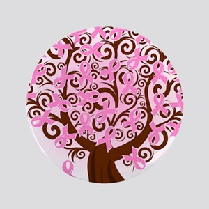 """The Tree of Life...Breast Cancer 3.5"""" Button"""
