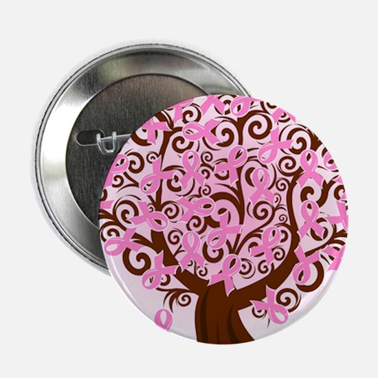 """The Tree of Life...Breast Cancer 2.25"""" Button (100"""