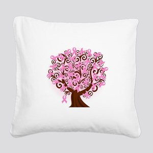 The Tree of Life...Breast Cancer Square Canvas Pil