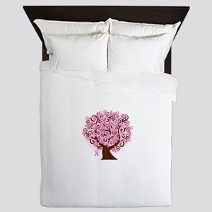 The Tree of Life...Breast Cancer Queen Duvet