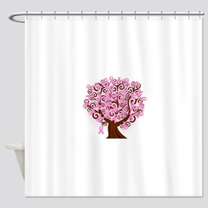 The Tree of Life...Breast Cancer Shower Curtain