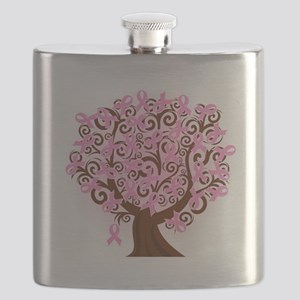 The Tree of Life...Breast Cancer Flask