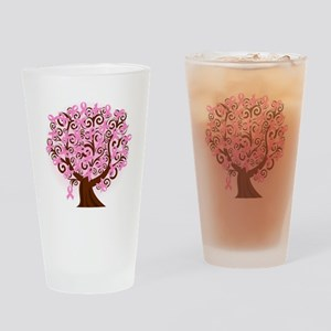 The Tree of Life...Breast Cancer Drinking Glass